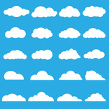 Vector of clouds collection poster