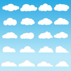 Vector of clouds collection
