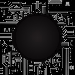 Electronic circuit black background
