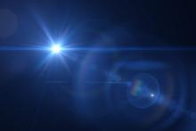 "Постер, картина, фотообои ""blue digital lens flare warm"""