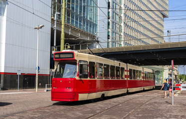 Old tram in the Hague, Netherlands