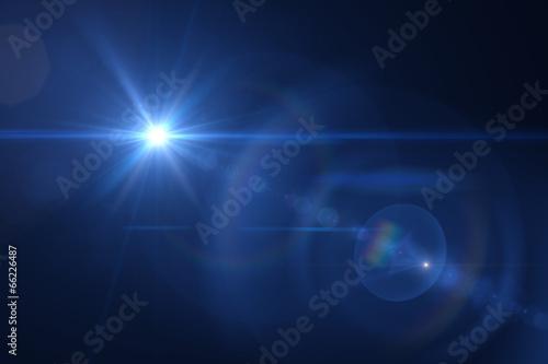 Fototapeta blue digital lens flare warm