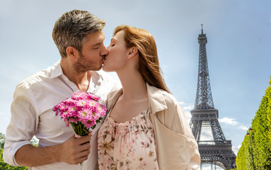 romantic paris france couple