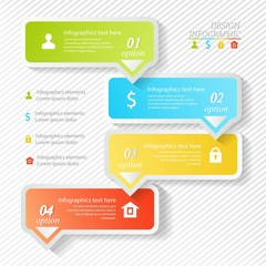 Design business infographics four successive options