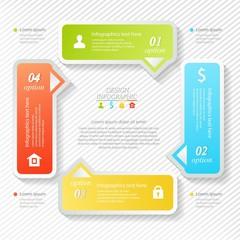 Design business infographics four successive options, web design