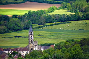 Vilage de Saint Père vu de Vézelay, Bourgogne