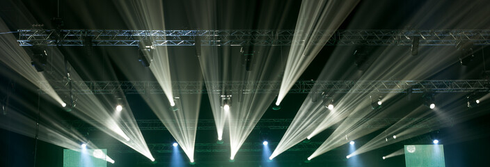 Light from the scene during the concert