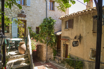 Eze-Village. On the street of the old village