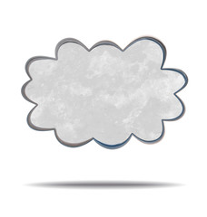 grunge illustration of a cloud