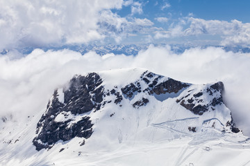View from Zugspitze.Germany.