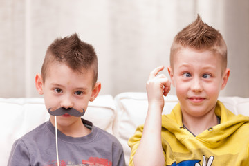 funny face boys and mustaches