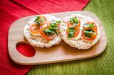 Gluten-free sandwiches with mozzarella and tomatoes