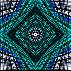 Confusion background. Lines and squares in blue and black abstra