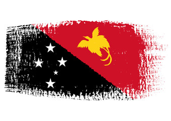 brushstroke flag Papua New Guinea