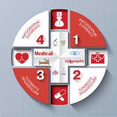 Abstract concept of medicine with  medical icons