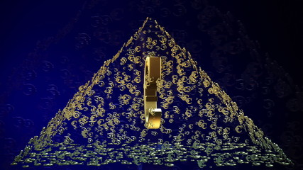 Pyramid of Euro money signs