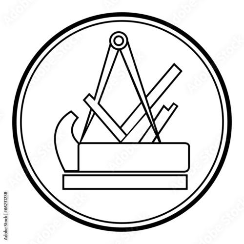 Tischler Zeichen fototapete schreiner symbol zeichen emblem v2