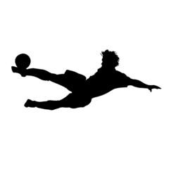 Football acrobatic kick