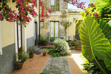 Old Courtyard In Sicily