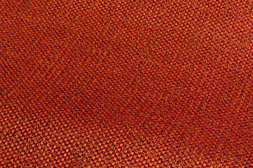 glossy orange woven fabric