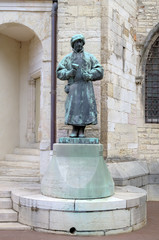 Statue of sculptor Claus Sluter in the Palace of Dukes and Estat