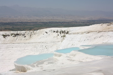 Famous blue travertine pools