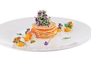 pancakes with smoked salmon