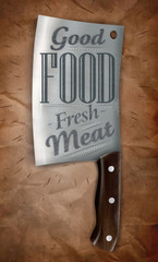 Poster knife meat