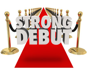 Strong Debut Red Carpet 3D Words Launching New Product Business