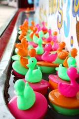 Carnival Rubber Ducks Floating in Water Game