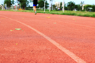 running jogging on sport track