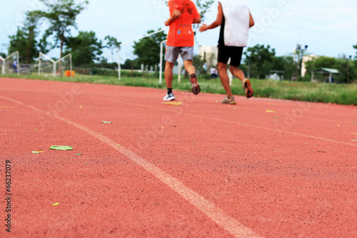 running jogging on sport track