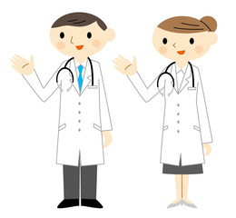 説明する医者