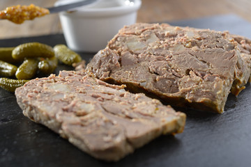 Rabbit liver terrine