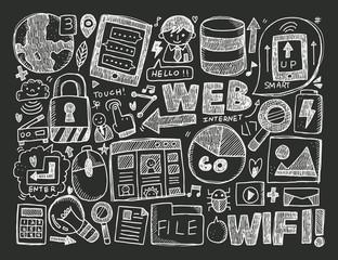 doodle internet background