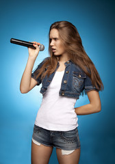 Singing Woman with Microphone66