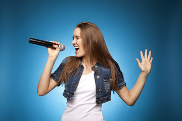 Singing Woman with Microphone67