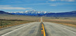 Leinwanddruck Bild - Driving in the Rocky Mountains, USA