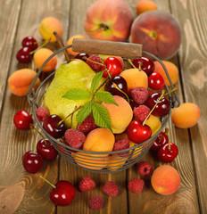 Various fruit in a basket