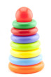 Plastic toy pyramid shape