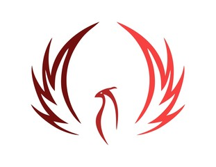 bird logo,phoenix symbol,wings icon,luxury style