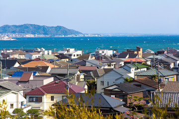 landscape view of Kamakura town, Japan