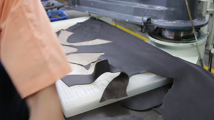 cutting leather for shoe component