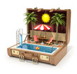 Swimming pool in the case