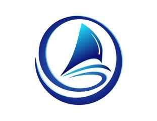 boat logo,global sea,wind,travel cruise sailboat beach