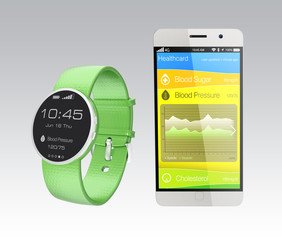 Blood pressure information synchronize from smart watch