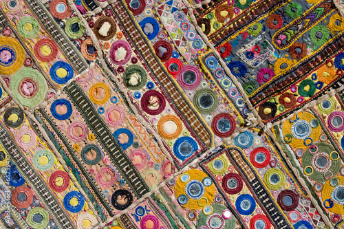 Rajasthani indian patchwork wall cloth - 66239410