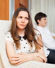 Dissapointed girl conflicting with boyfriend