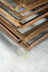 Stack of  metal frame