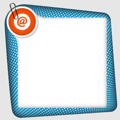 vector frame for inserting text with email symbol